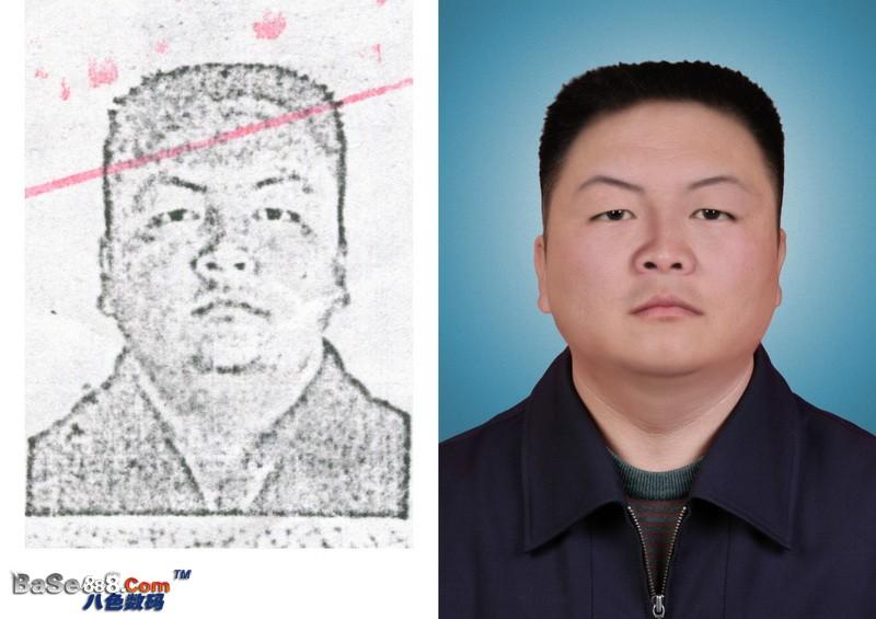 舊照片修復--畫像老照片高清處理真人皮膚做清晰