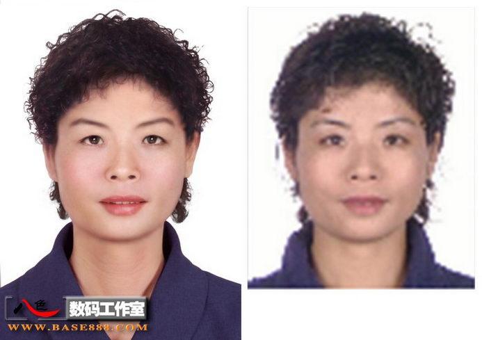 二代身份證件照 舊照片翻新 當代氣質美女