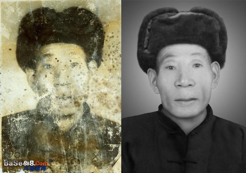 老照片修復--損壞比較多的照片修補中級處理
